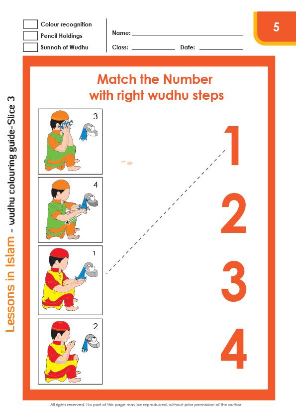 Wudhu Colouring Worksheet Digital on Good Hygiene Worksheets