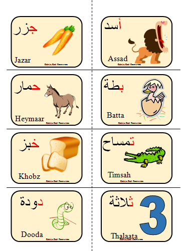 arabic alphabet flashcards arabic playground